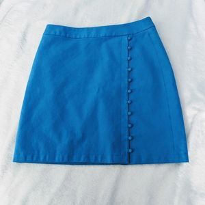 Bright neon blue skirt